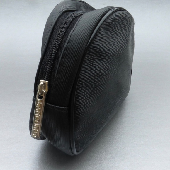 Lancome Handbags - Black Lancome Compact Makeup Faux Leather Pouch
